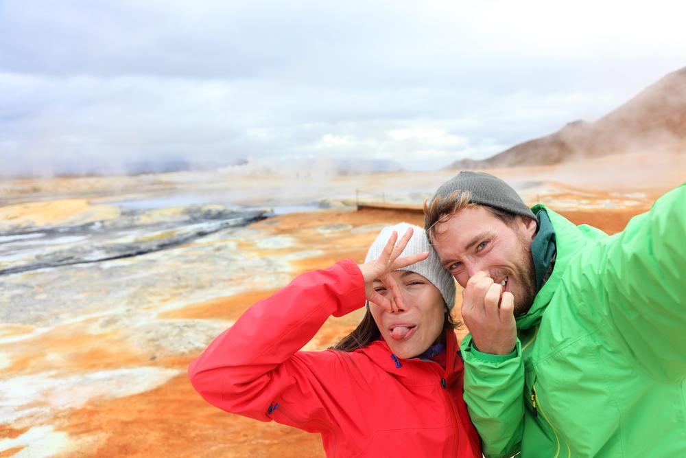 Запах серы не помеха для фото на фоне вулкана