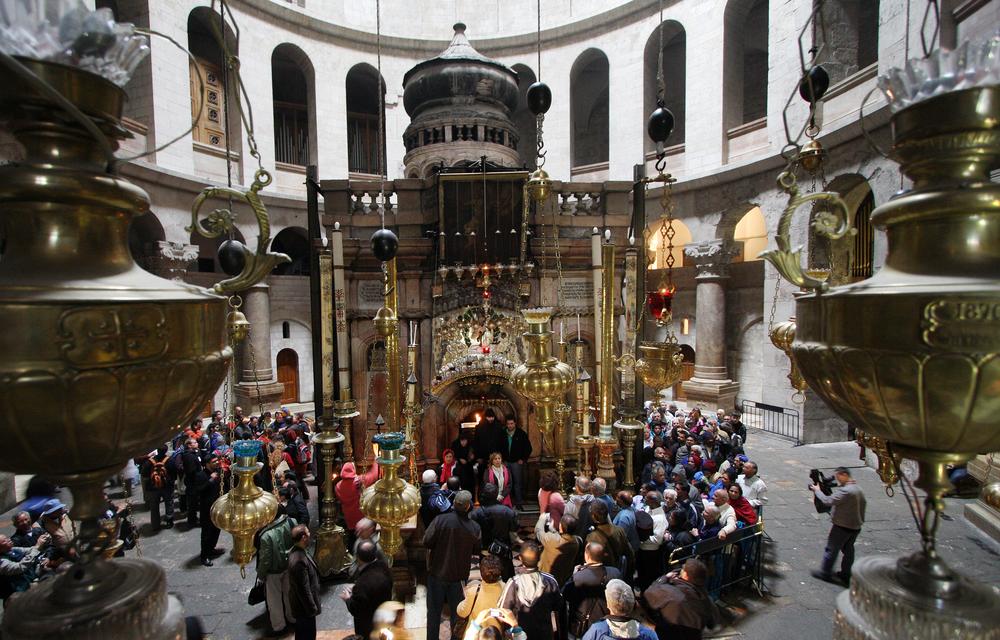 В храме Гроба Господня началась реставрация.Вокруг Света. Украина