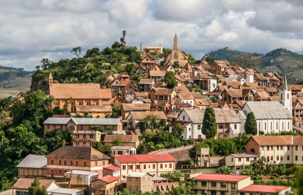 Старый город Fianarantsoa на Мадагаскаре