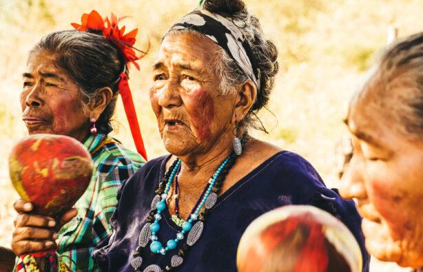 Коренные жители Пагвая Гуарани (Guarani) поют песню