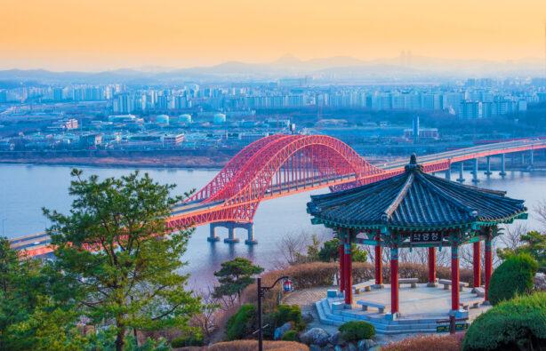 Мост Banghwa в Сеуле