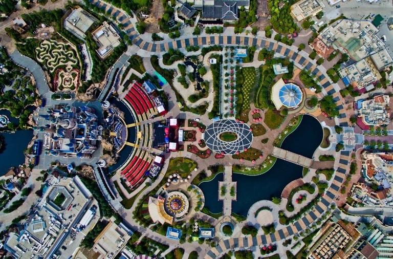 Шанхайский Диснейленд. Вид сверху
