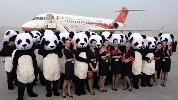 """Cамолет """"made in China"""" совершил первый коммерческий рейс.Вокруг Света. Украина"""