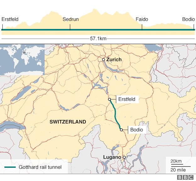 В Швейцарии открыт самый длинный туннель в мире.Вокруг Света. Украина