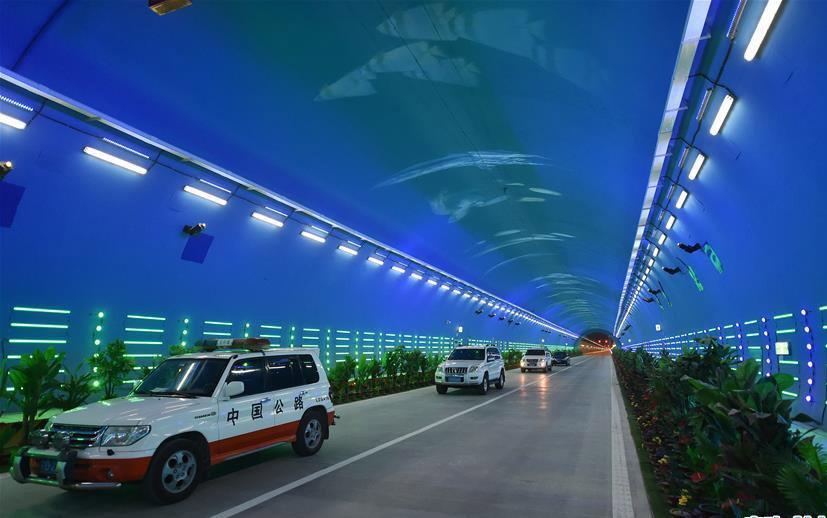 В Китае открыли «тоннель-аквариум»