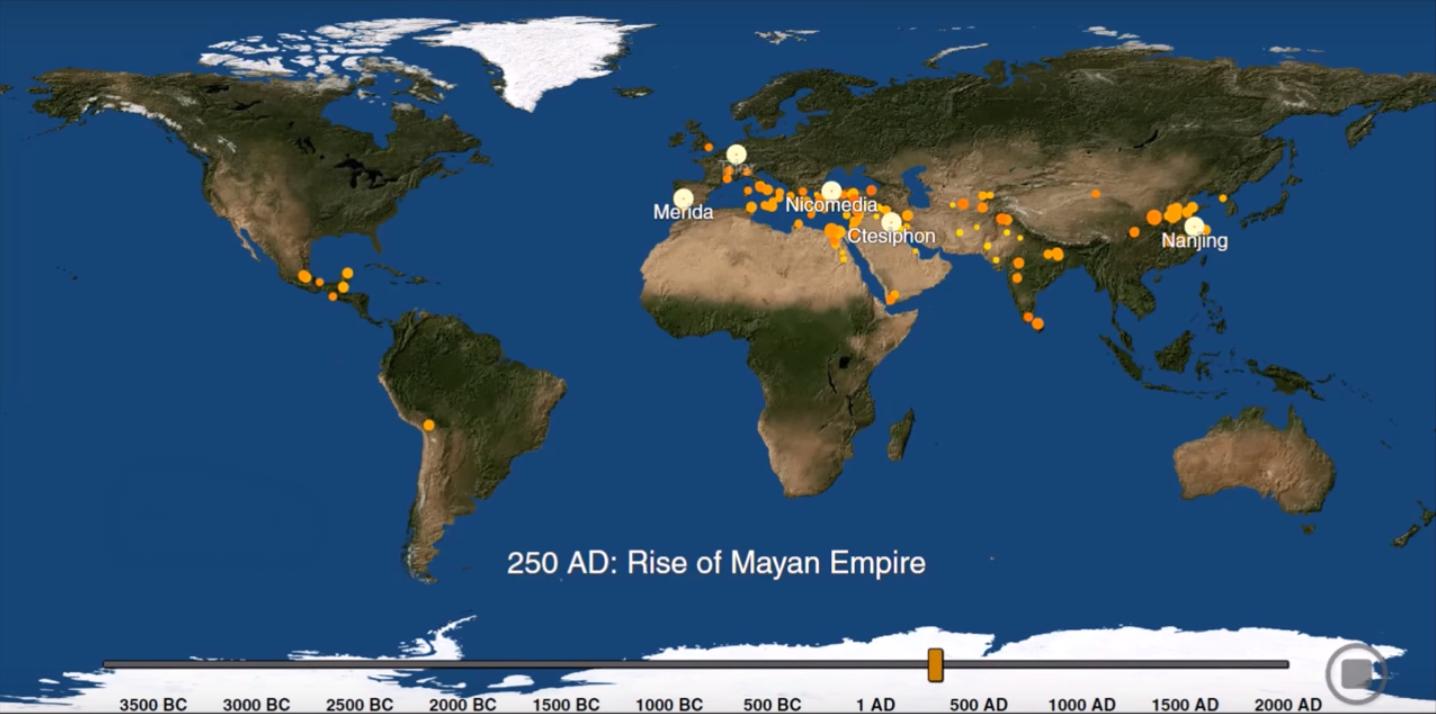 Урбанизация Земли за 6000 лет.Вокруг Света. Украина