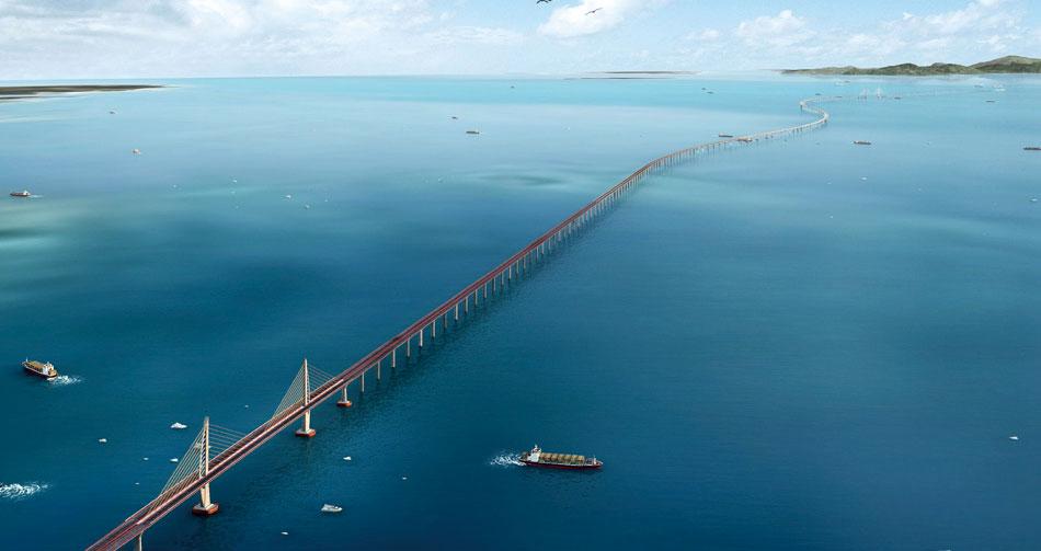 В Китае завершили строительство самого длинного морского моста.Вокруг Света. Украина