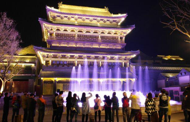 Светомузыкальный фонтан в Beijing Water Town