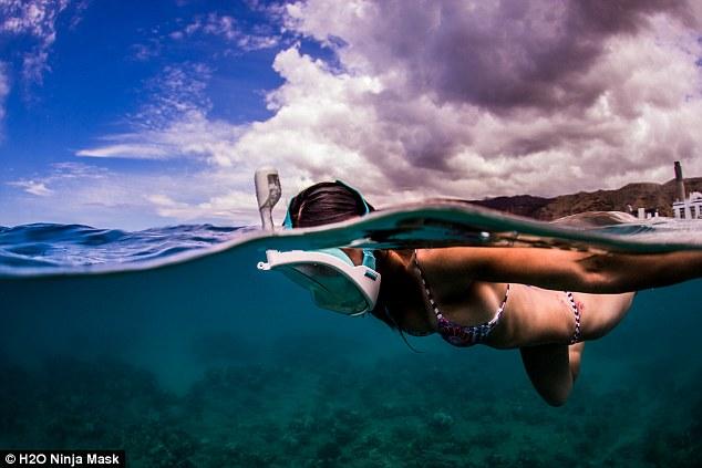 Маска для подводного плавания, в которой можно дышать через нос.Вокруг Света. Украина