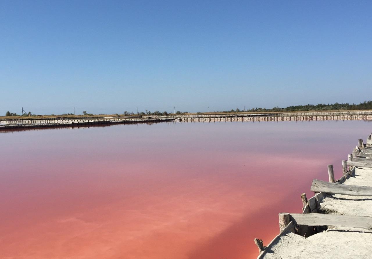 Розовые озера Херсонщины