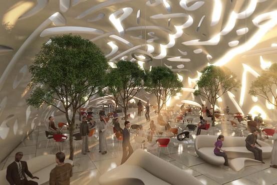 интерьер Музея будущего
