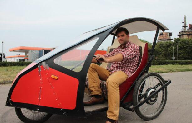 Украинец создал сверэкономный электромобиль