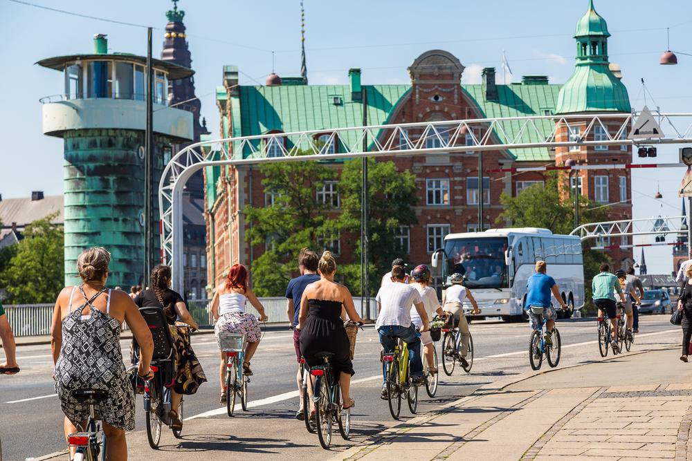 велосипедисты в Копенгагене