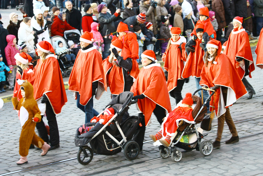 Традиционное шествие по улицам Хельсинки по случаю Рождества