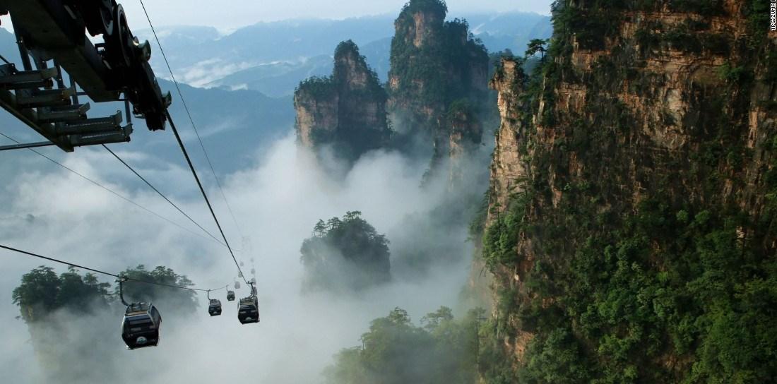 «Небесные врата» в китайских горах