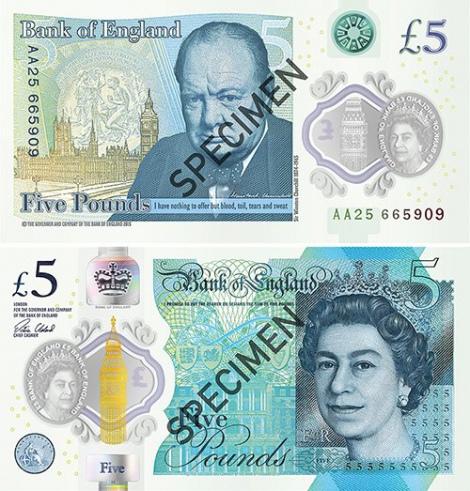 Банк Англии запустил в оборот пластиковые 5-фунтовые банкноты.Вокруг Света. Украина