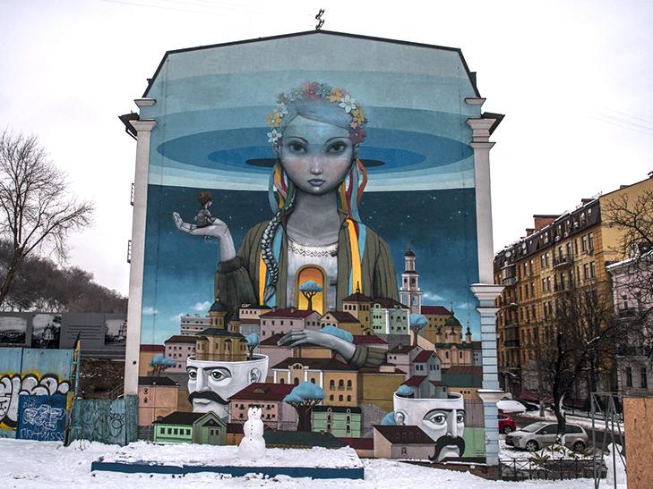 Муралы Киева.Вокруг Света. Украина