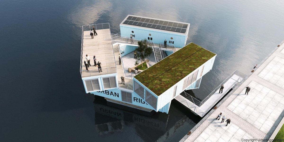 В Копенгагене появилось общежитие на воде.Вокруг Света. Украина