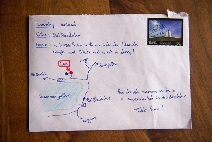 В Исландию пришло письмо с нарисованной картой вместо адреса.Вокруг Света. Украина