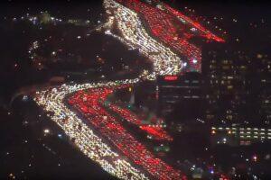 Ужасно красивая пробка в Лос-Анджелесе