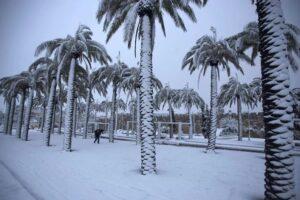 Снегопад на Ближнем Востоке