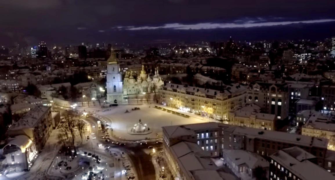 Заснеженный Киев