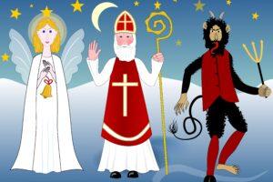 Кто сопровождает Святого Николая?