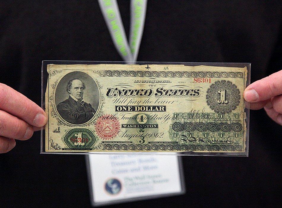 Дизайн 1-долларовой купюры с 1862 года
