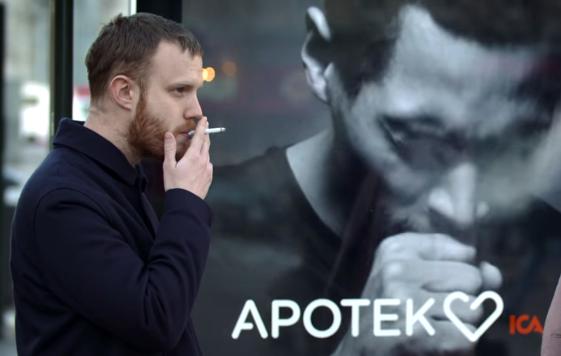 На улицах Швеции установили кашляющие билборды.Вокруг Света. Украина