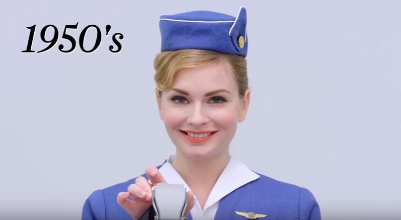 100 лет униформы стюардессы