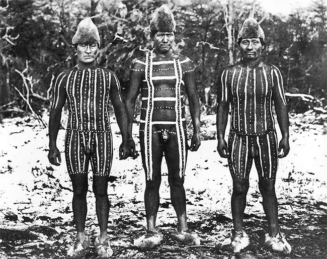 Традиционный боди-арт племен Огненной Земли