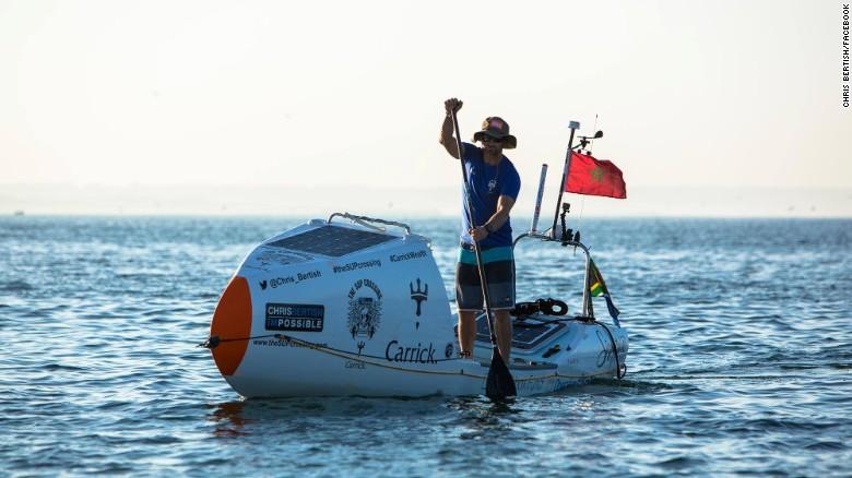 Первый человек, который пересек Атлантический океан на доске для серфинга.Вокруг Света. Украина