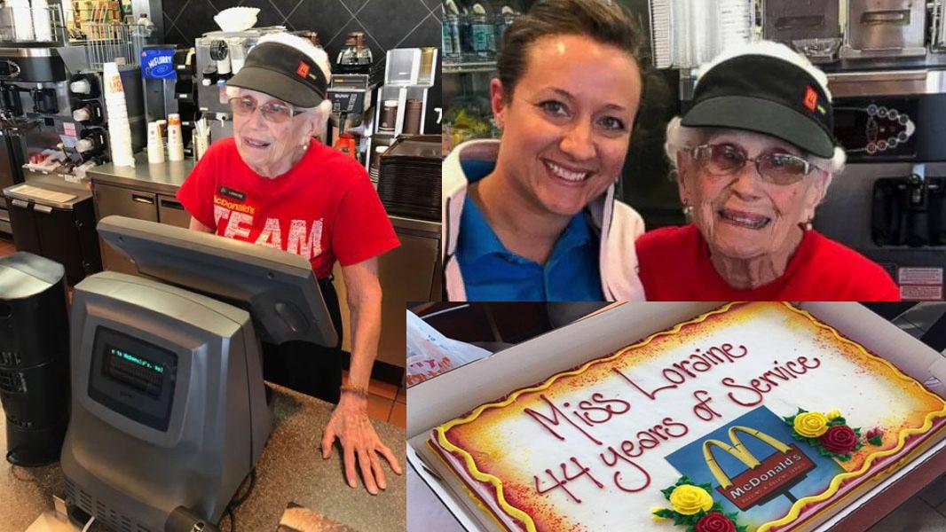 В Индиане посетителей McDonald's обслуживает 94-летняя бабушка.Вокруг Света. Украина