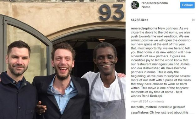 Фото: Rene Redzepi / Instagram / BBC