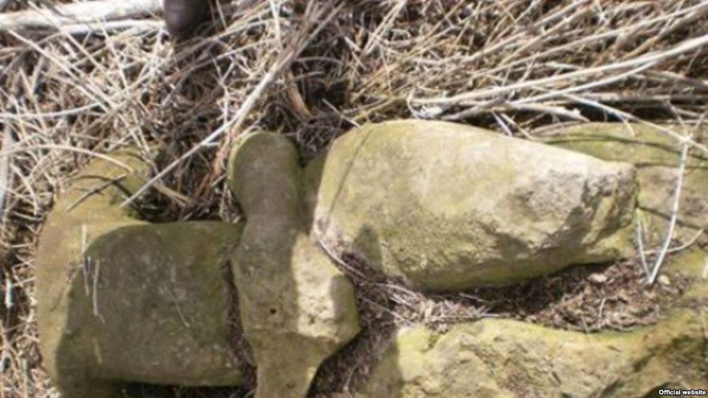 Скульптуру XII столетия нашли в кустах в Днепропетровской области.Вокруг Света. Украина