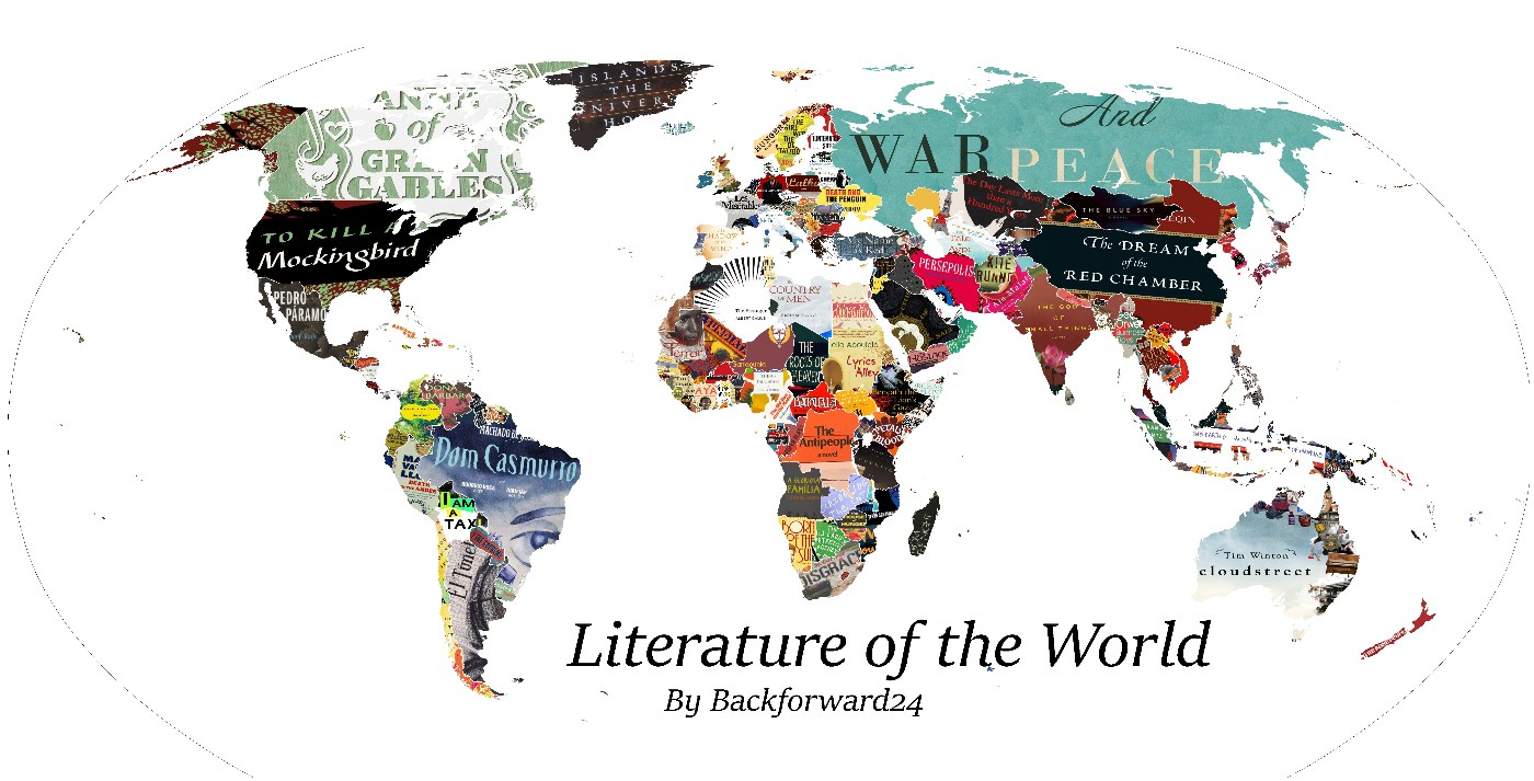 Литературная карта мира: что читают в разных уголках планеты