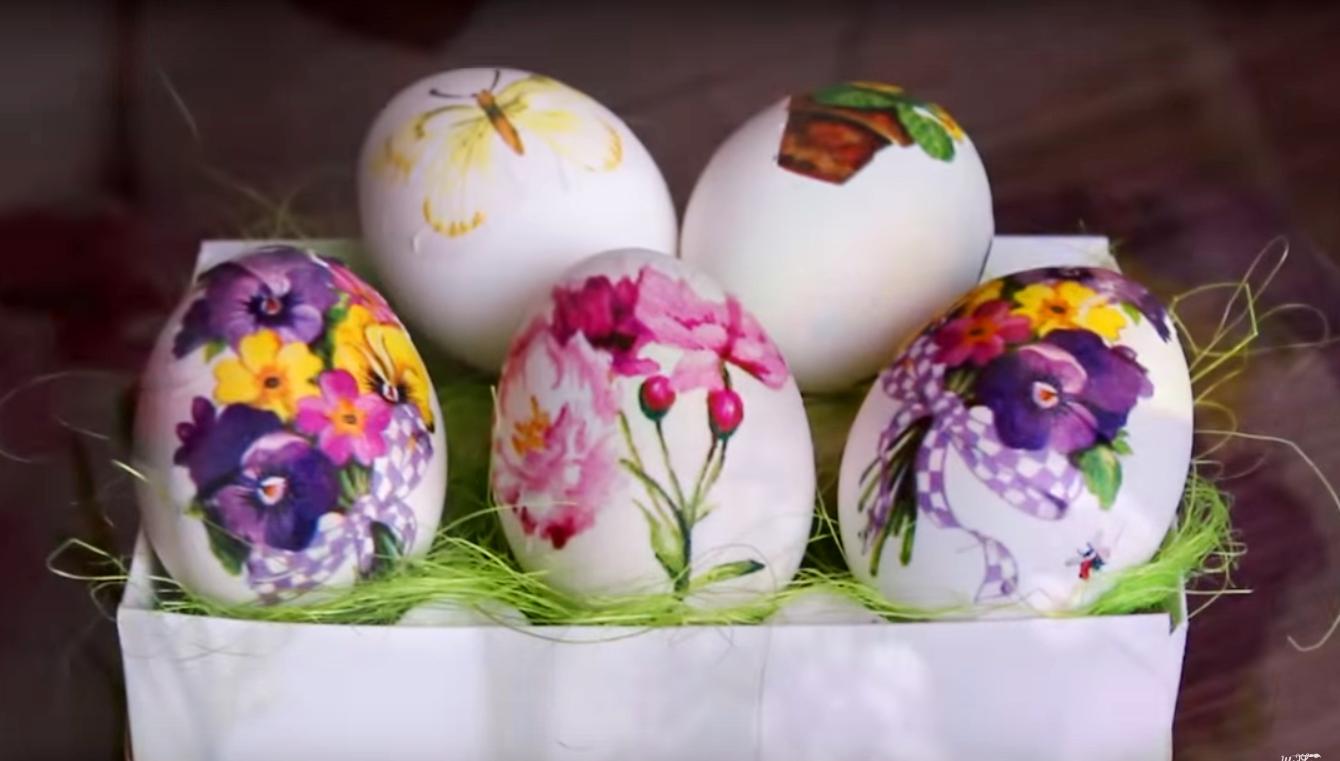 3 способа оригинально покрасить яйца