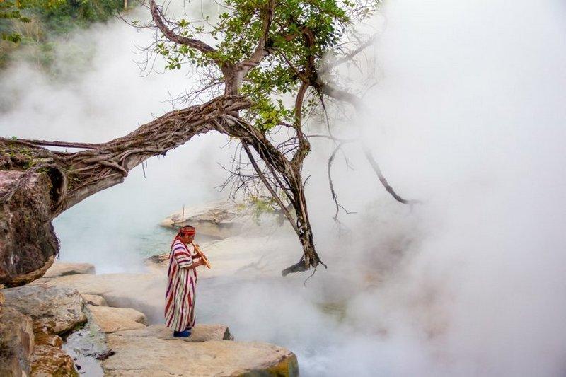 Священная кипящая река, затерянная в Амазонии