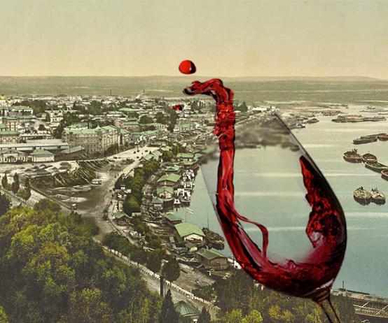 О Подоле с бокалом вина