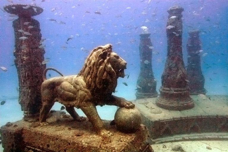 фото затонувших городов.