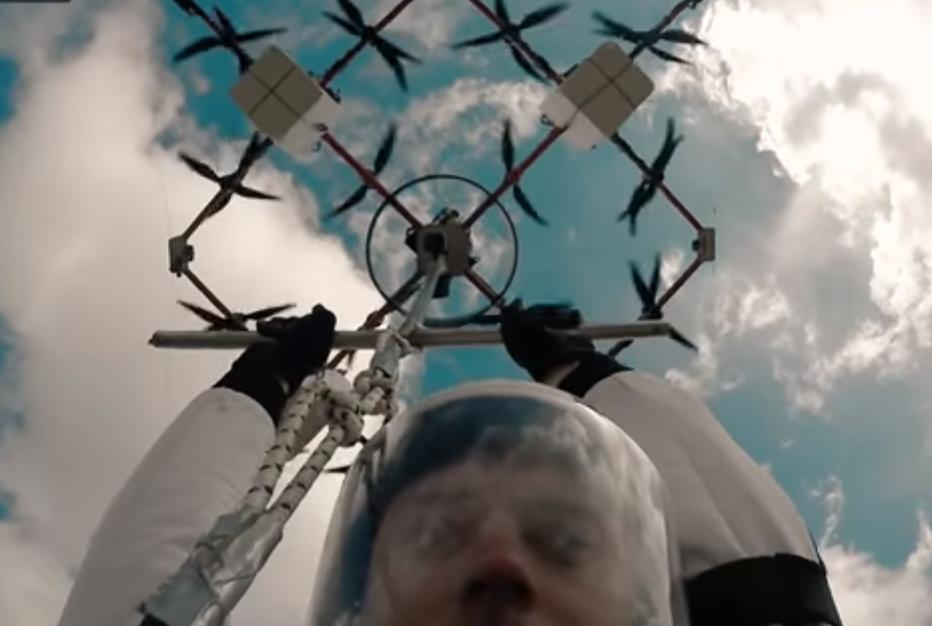 Первый прыжок с парашютом с дрона