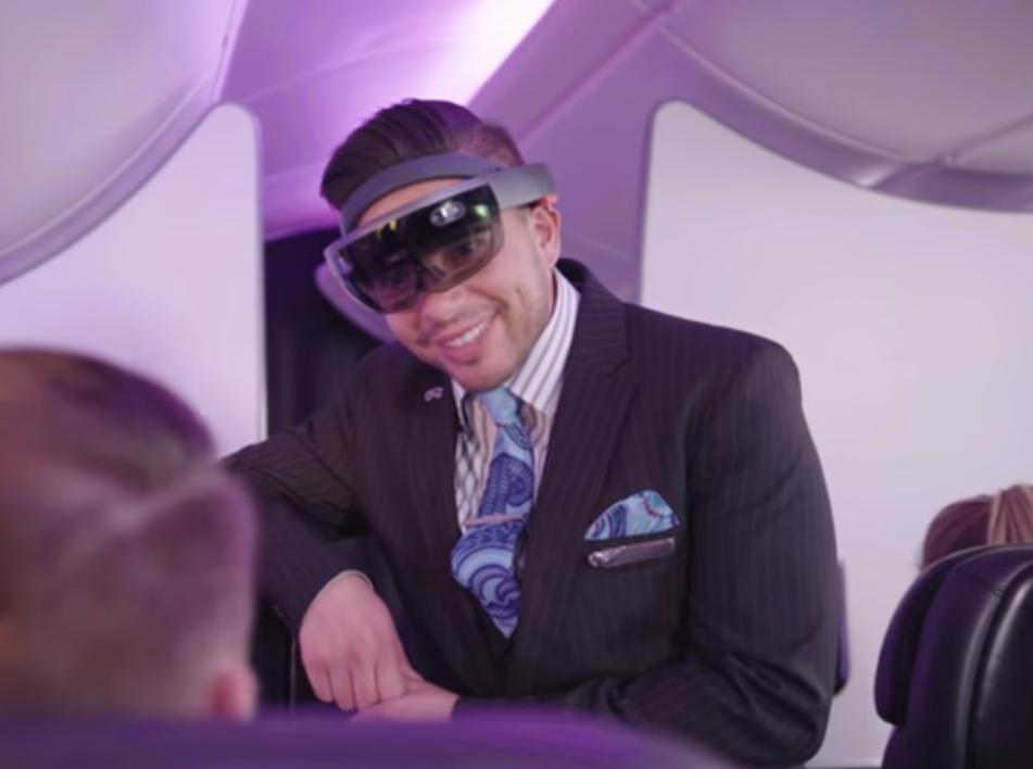 Стюардессы смогут предугадывать ваши желания с помощью дополненной реальности