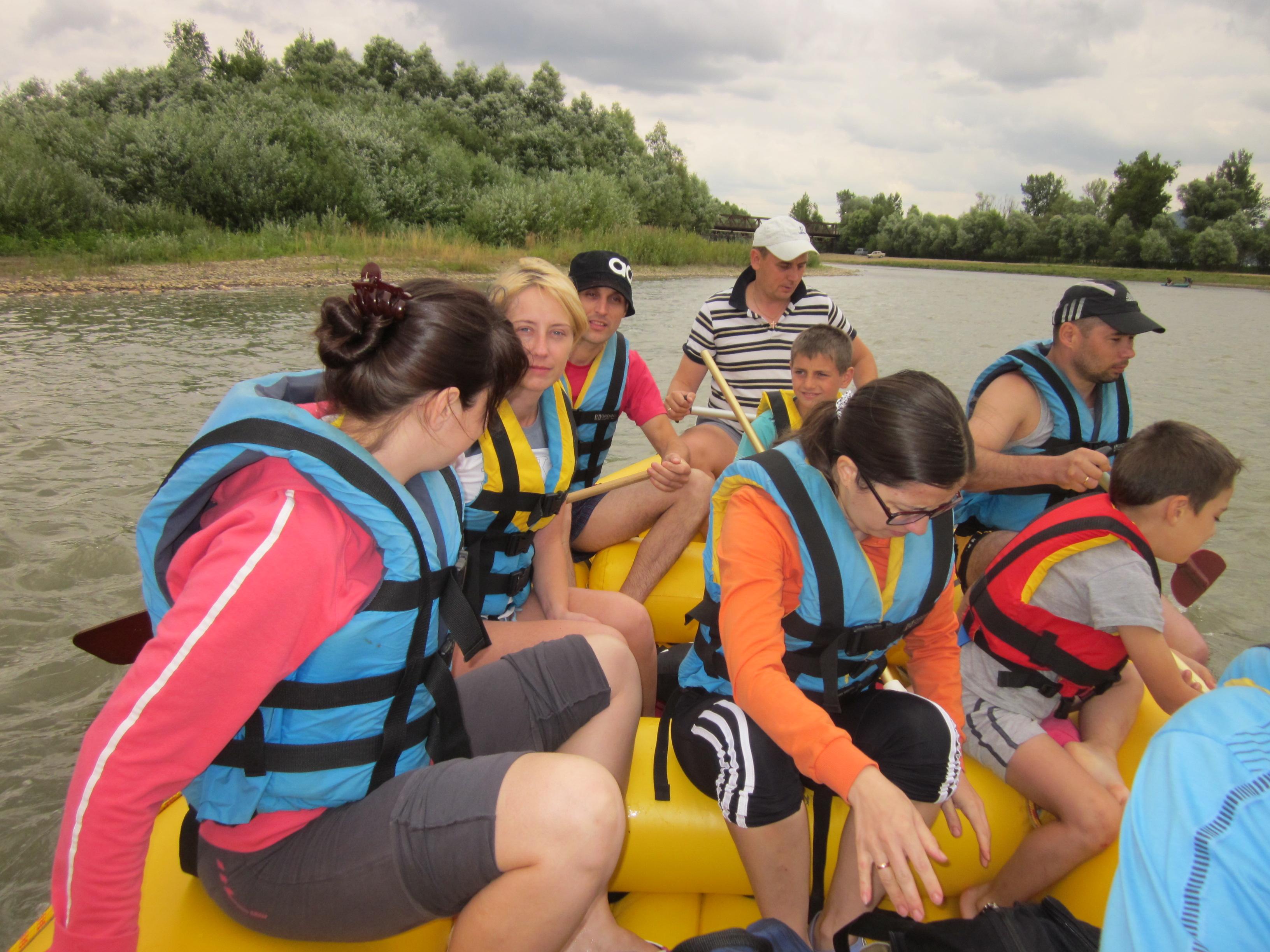 Рафтинг по річці Тиса