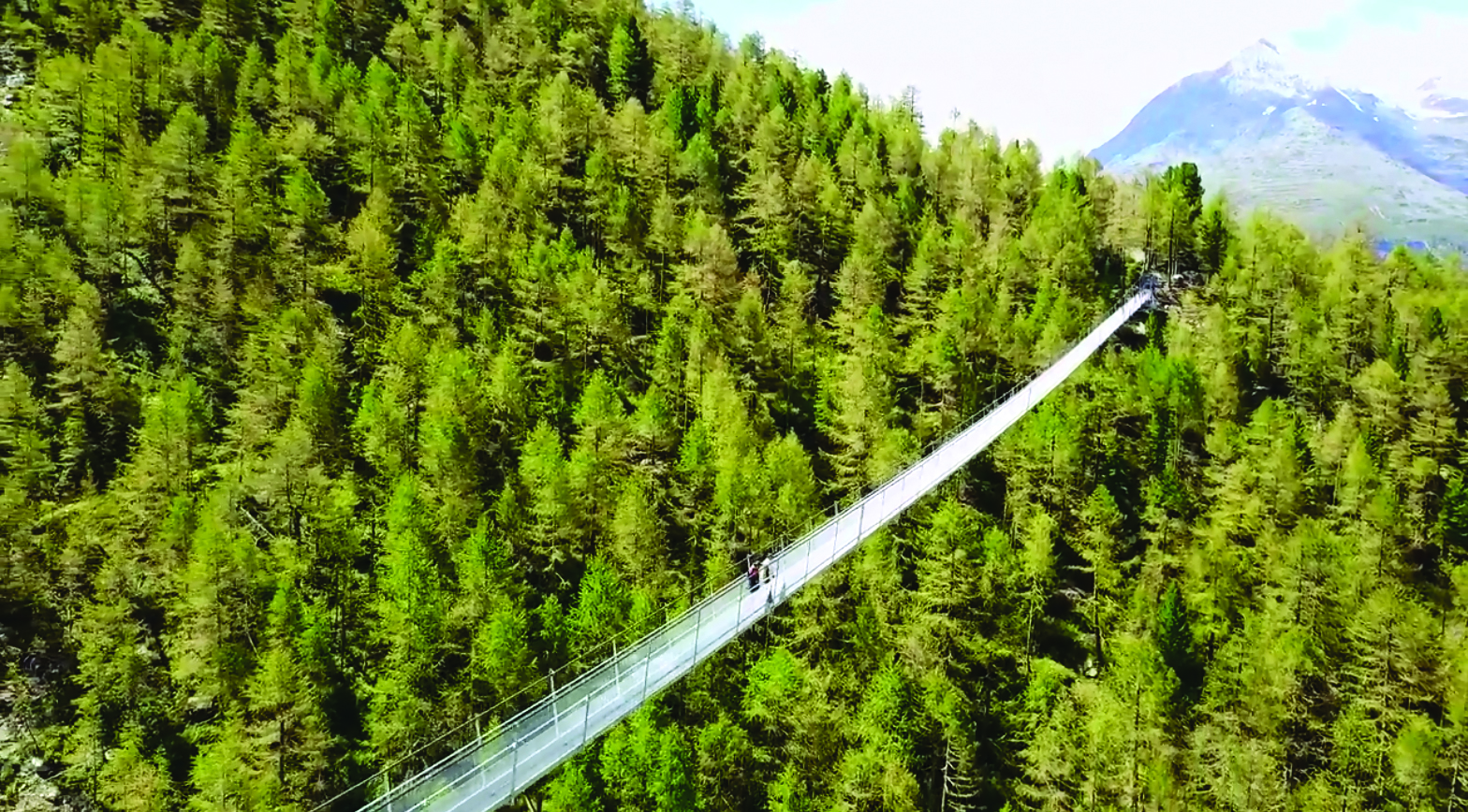 В Швейцарии построили самый длинный подвесной мост в мире