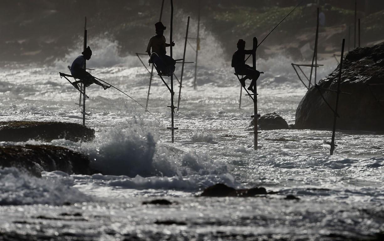 Воздушная рыбалка на Шри-Ланке