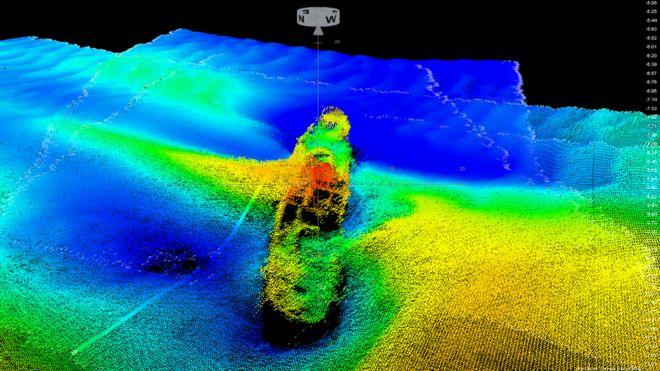 На дне Бристольского залива обнаружен столетний пароход