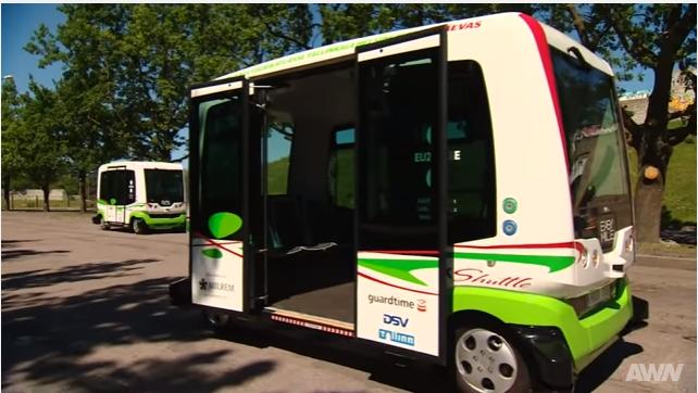 В Таллинне появились автобусы без водителей
