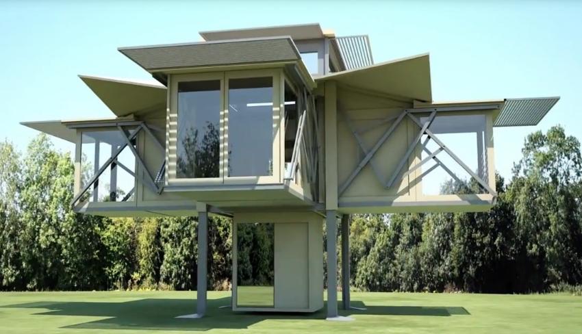 Дом-раскладушка, который можно взять с собой (видео)