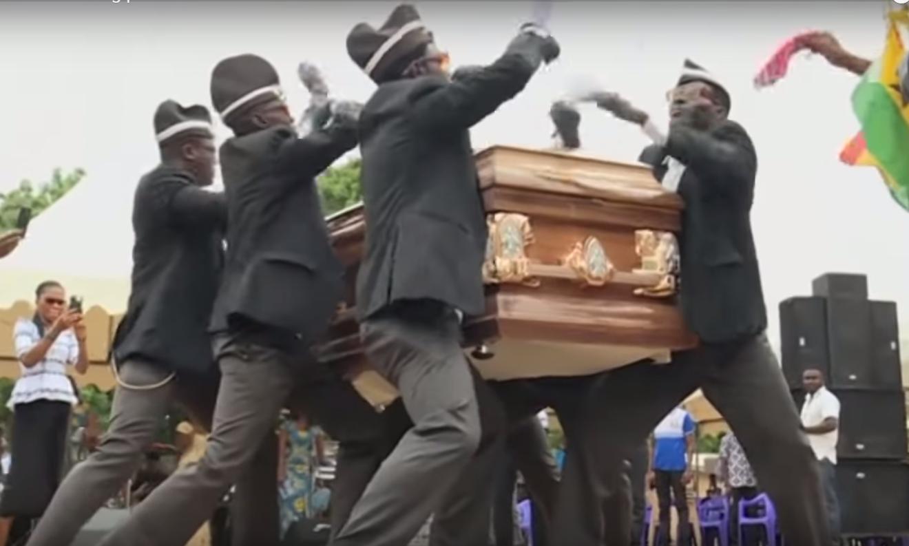 Веселые похороны в Гане