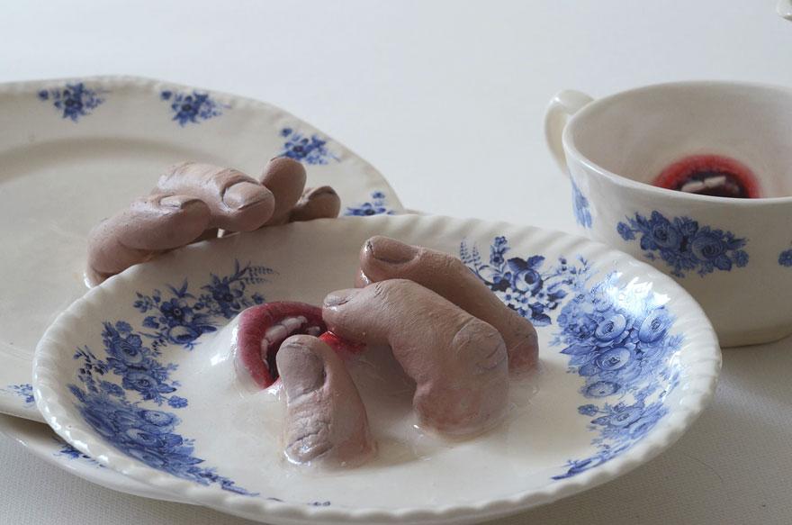 Израильский скульптор создает мистическую посуду